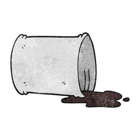 oil drum: freehand textured cartoon spilled oil drum