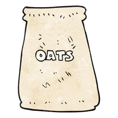 oats: freehand textured cartoon bag of oats