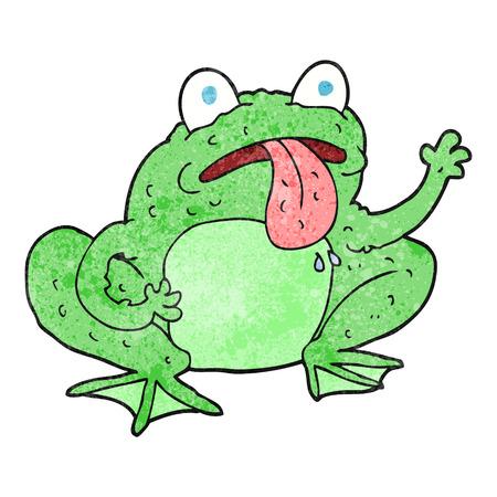 crazy frog: freehand textured cartoon frog Illustration