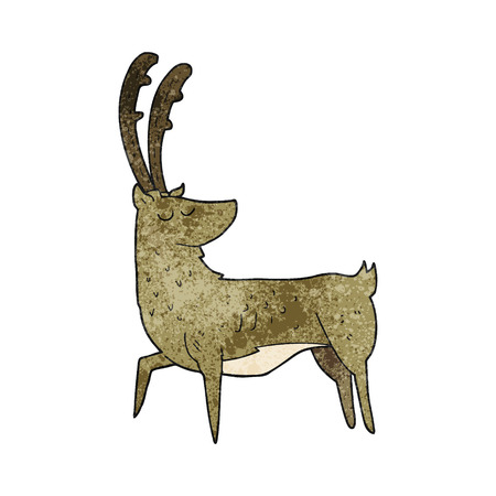 manly: freehand textured cartoon manly stag
