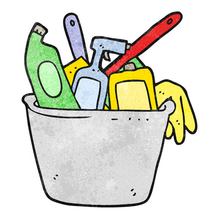 cleaning products: cleaning products freehand textured cartoon