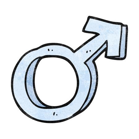 male symbol: freehand textured cartoon male symbol