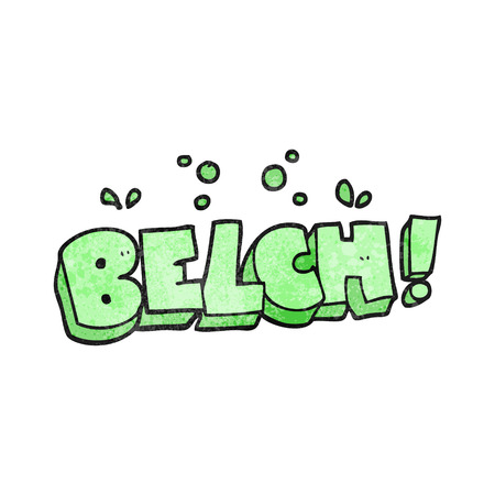 belch: freehand textured cartoon belch text