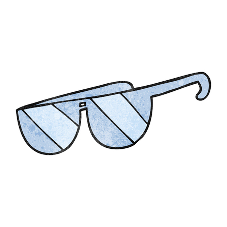 textured: freehand textured cartoon glasses