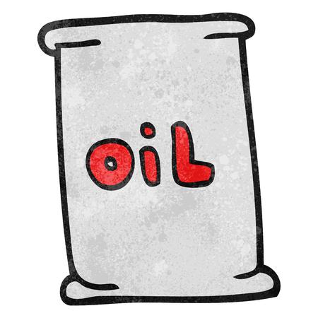 oil drum: freehand textured cartoon oil drum