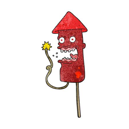 screaming: freehand textured cartoon screaming firework