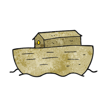 freehand textured cartoon noahs ark