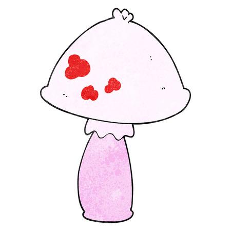 cartoon mushroom: freehand textured cartoon mushroom