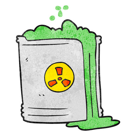 radioactive: freehand textured cartoon radioactive waste Illustration
