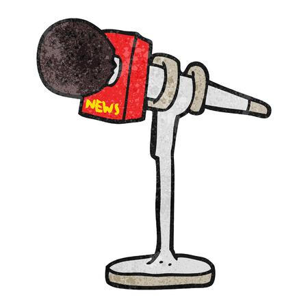 textured: freehand textured cartoon microphone