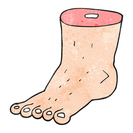 bodyparts: freehand textured cartoon foot