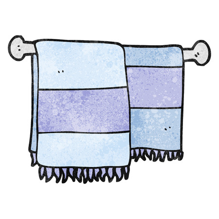 towels: freehand textured cartoon bathroom towels