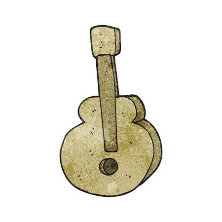 free clip art: freehand textured cartoon guitar