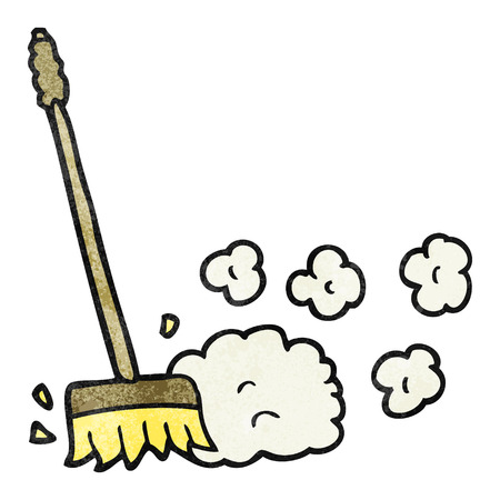 sweeping: freehand textured cartoon sweeping brush Illustration
