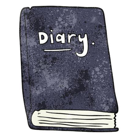 diary: freehand textured cartoon diary