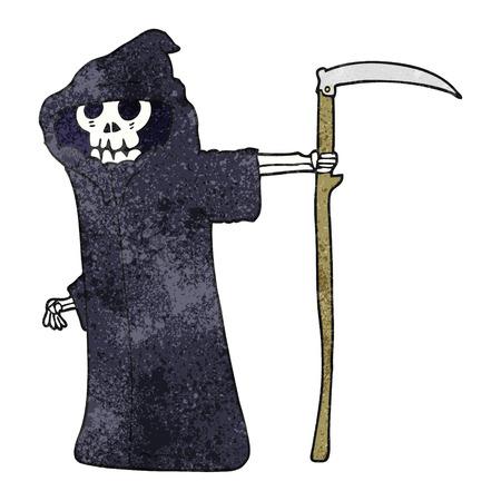 textured: freehand textured cartoon death Illustration