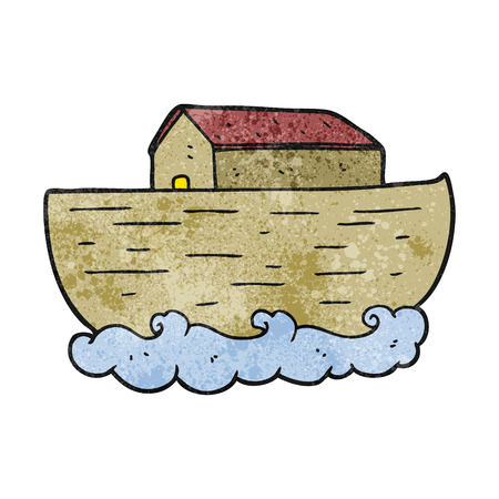 freehand textured cartoon noahs ark
