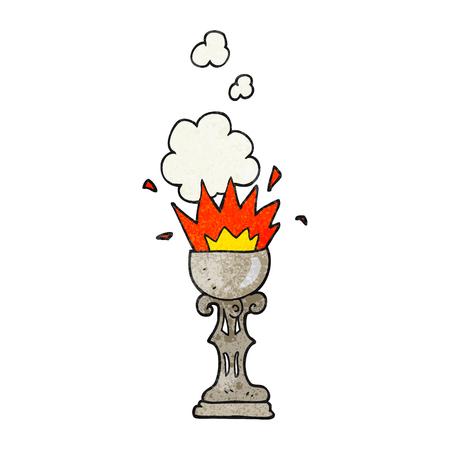 grail: freehand textured cartoon magic goblet