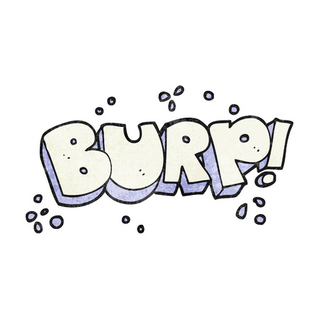 burp: freehand textured cartoon burp text Illustration