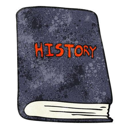 history book: freehand textured cartoon history book Illustration