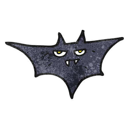 halloween bat: freehand textured cartoon halloween bat Illustration