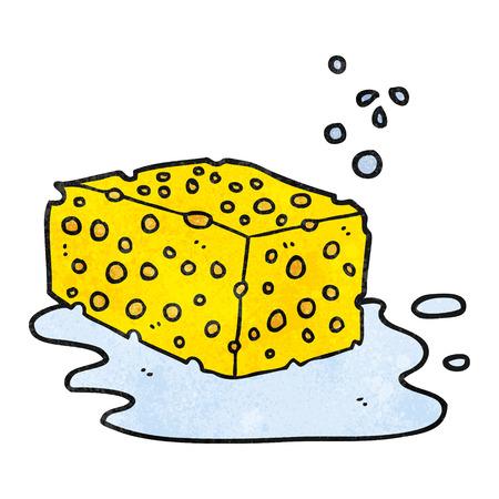 freehand textured cartoon sponge