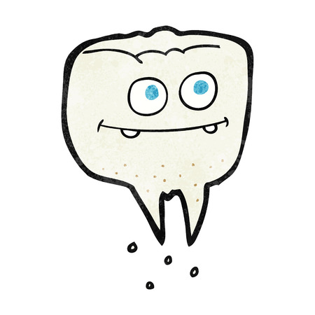 textured: freehand textured cartoon tooth