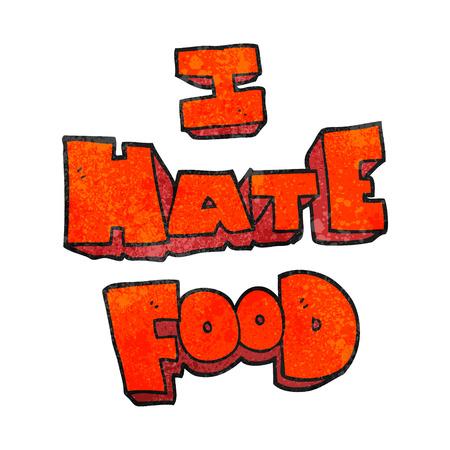hate: freehand textured cartoon i hate food symbol