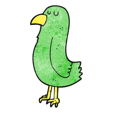 textured: freehand textured cartoon parrot Illustration
