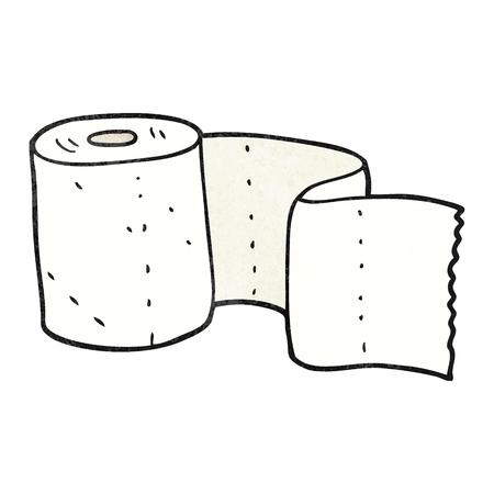 toilet paper art: freehand textured cartoon toilet roll Illustration