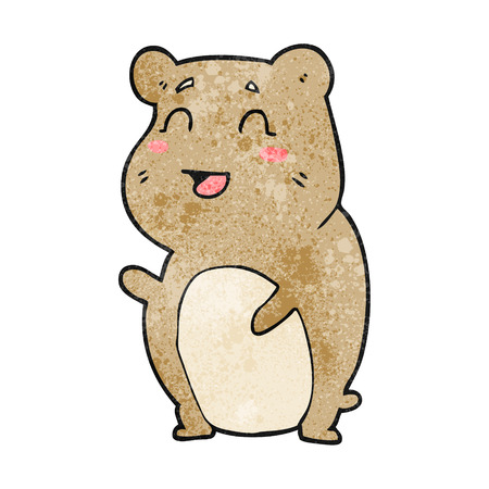 cute hamster: freehand textured cartoon cute hamster