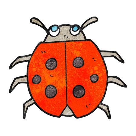 ladybug: freehand textured cartoon ladybug Illustration