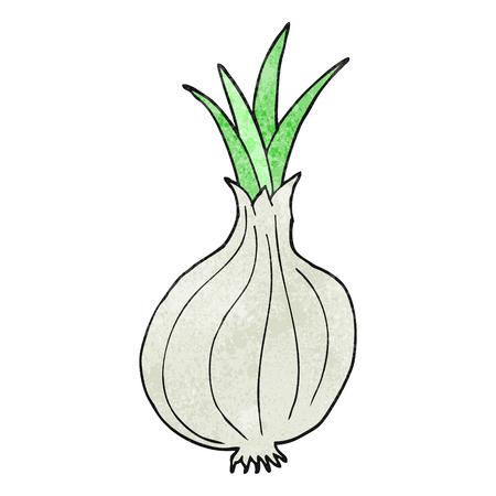 cartoon onion: freehand textured cartoon onion