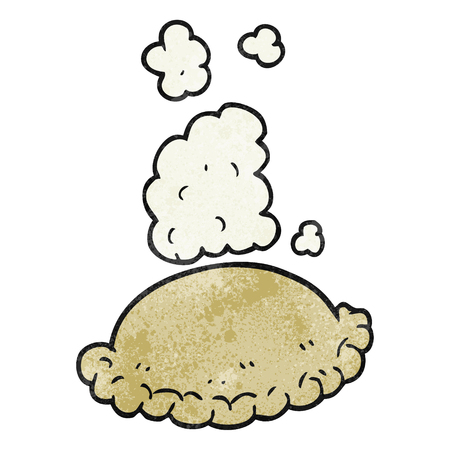 pasty: freehand textured cartoon baked pasty