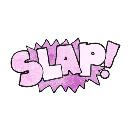 slap: freehand textured cartoon slap symbol Illustration