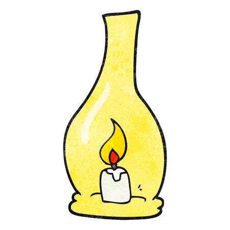 textured: freehand textured cartoon lantern Illustration