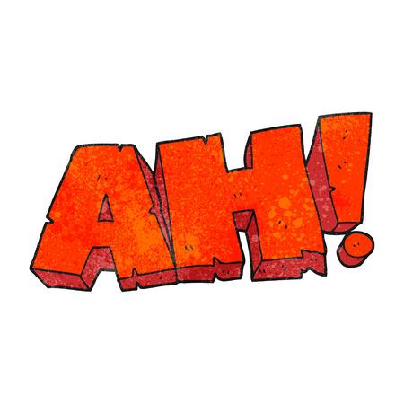 ah: freehand textured cartoon AH! shout