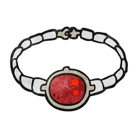 ruby: freehand textured cartoon ruby bracelet