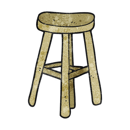 stool: freehand textured cartoon stool Illustration