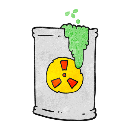 radioactive waste: freehand textured cartoon radioactive waste Illustration