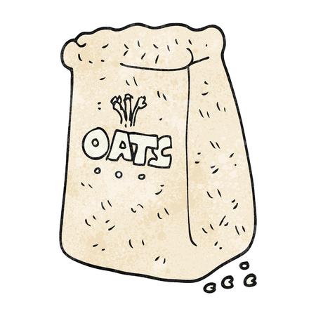 oats: freehand textured cartoon oats