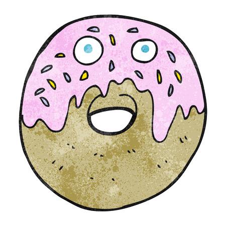 textured: freehand textured cartoon doughnut