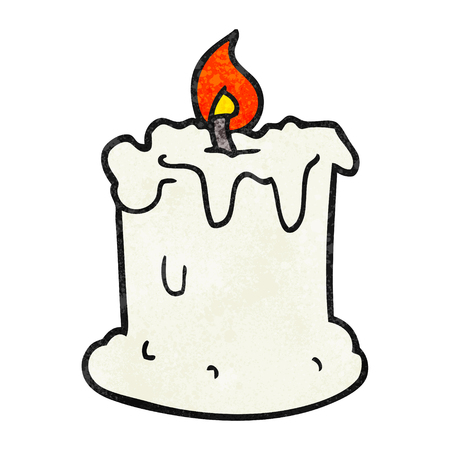 dribbling: freehand textured cartoon dribbling candle