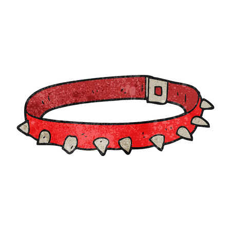 cartoon dog: freehand textured cartoon dog collar