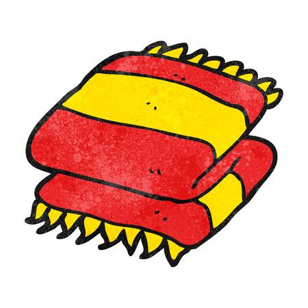 folded: freehand textured cartoon folded towel