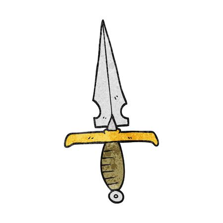 dagger: freehand textured cartoon dagger