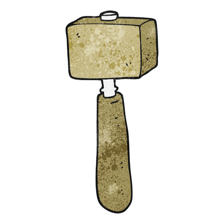 mallet: freehand textured cartoon mallet