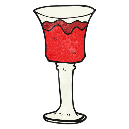 free clip art: freehand textured cartoon goblet of wine