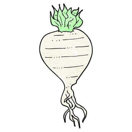 textured: freehand textured cartoon turnip