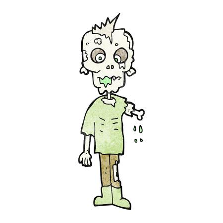 textured: freehand textured cartoon zombie Illustration
